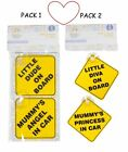 Child baby on board safety care signs little diva dude suction 2 signs