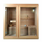 Hemlock 4 PERSON INDOOR heated rocks SAUNA (with options)