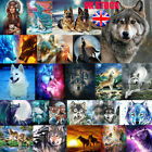 UK Wolfs Full Drill 5D Diamond Painting Embroidery Cross Craft Art Home Decor