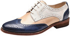 Handmade Women's Genuine Multi Color Leather Wingtip Brogue Lace Up Shoes