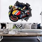 3D Motorcycle Driver 4 Wall Murals Wall Stickers Decal Breakthrough WALLPAPER AU