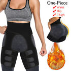 Women Sweat Thigh Trimmers Leg Shaper Neoprene Slimming Belt Control Fat Burning image
