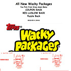 2020 Topps Wacky Packages Puzzle Red Ludlow Coupon Wonky Artist U Pick Updated