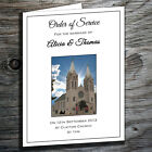 Wedding Order Of Service Booklets (Personalised with own venue) printed inserts