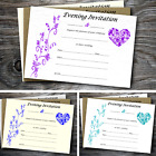 Blank postcard style wedding / evening invitations with envelopes- lots colours
