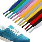 1m Shoelaces Colorful Coloured Flat Round Bootlace Sneaker Strings B7y1