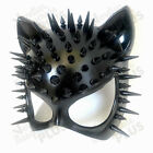 Black Cat Woman Masquerade Steampunk Spiky Mask Halloween Birthday Costume Party