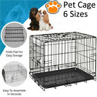 Dog Cage Puppy Pet Crate Carrier - 6 Sizes 18 24 30 36 42 48