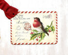 Hang Tags CHRISTMAS RED BIRD POSTCARD TAGS or MAGNET 686 Gift Tags
