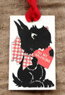 Hang Tags TO MY VALENTINE BLACK SCOTTIE VALENTINE TAGS 17 Gift Tags