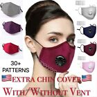 US Cloth Cotton Washable Face Mask Reusable Adjustable Breathable with Filter