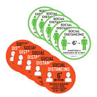 5pcs Social Distancing Floor Decal 6 Feet Safety Isolation Distance Sticker 20