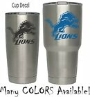 Detroit Lions Football Decal for NFL YETI Tumbler 20 30 Ozark RTIC Sticker $1.99 USD on eBay
