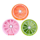 7 Sub Grid Round Fruit Shape Weekly Health Care Medicine Pill Box Organizer 20