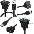 Batige Square Single Port Usb 3.0 Panel Flush Mount Extension Cable With Buckle