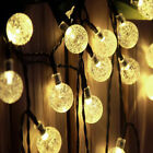 Solar Retro Ball String Lights Outdoor Garden LED Festoon Party Globe Bulb Light