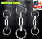 Ball Bearing Fishing Swivels Solid Ring Rolling Stainless Steel #0-1#-#2-#3-#4-5