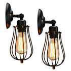 1/2/3/4 Pack Vintage Wall Sconces Wire Cage Wall Lamps Bulb Guard Light Shades