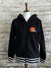 Womens NFL Team Apparel Cleveland Browns Football Full Zip Hoodie NWT M L $39.0 USD on eBay