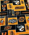 Oklahoma State University Cowboys BLANKET FLEECE Fabric by Yard or 1/2 Yard