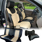 PU Leather Car 5 Seats Covers Cushion Front & Rear Dodge 88255 Bk/Tan $128.68 CAD on eBay