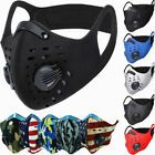 Kyпить Face Mask Reusable Sport Cycling Cover Dual Air Valve W/ Activated Carbon Filter на еВаy.соm