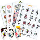 Harunouta Nail Water Decals Colorful Flower Nail Art Transfer Sticker Decoration