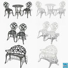 Garden Bistro Table And Chairs Set Cast Aluminium Metal Pub Outdoor Patio Bench