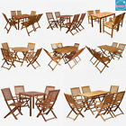 4/6 Seater Dining Set Wooden Furniture Rustic Outdoor Patio Folding Table&chair