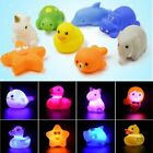 Flashing Floating Animal LED Baby Water Toy Rubber Duck Yellow Bath Color Pack