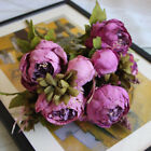 Artificial Silk Peony Fake Flowers Bouquet For Wedding Party Home Decor