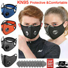 Air Valve Cycling Face Mask Reusable Washable Anti Air Pollution W/carbon Filter