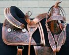 USED 16 TREELESS WESTERN SHOW TRAIL ENDURANCE HORSE SADDLE TACK LEATHER