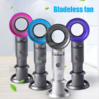 Mini No Leaf Handy Fan Portable 360 Degrees Bladeless Hand Held Air Cooler USB