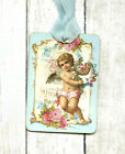 Hang Tags FRENCH ANGEL FLORAL TAGS or MAGNET 473 Gift Tags