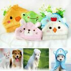 Kitten Puppy Dog Bathrobe Hooded Pajamas Cat Shower Blankets Pet Bath Towel