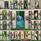 Natural Scenery Door Wallpaper Home Decor Self-adhesive Waterproof Removable