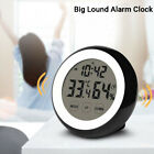 Digital Touch Screen Wall Desk Clock Hygrometer Thermometer Big Alarm Clock Home