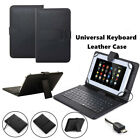 Universal PU Leather Case Cover With Built-In USB Keyboard For 7/8 Inch Tablet