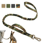 K9 Military Dog Leash Tactical w/Dual Handle No Pull Bungee Lead for Large Dogs