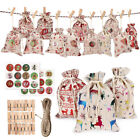 24Pcs Elk Star Print Christmas Candy Storage Bag Drawstring Pouch Rope Clip Eage