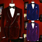 Prom Formal Party Tuxedos Double-breasted Blazer Men's Wedding Wear Suits 2pcs