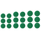 6 Pack Self Adhesive Air Hockey Mallet Felt Pads, Green, 3 Sizes Available -