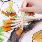 Wooden Handle Paint Brush Watercolor Brushes For Acrylic Oil Painting D4v1