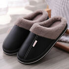 Winter Mens Womens Slippers Indoor Mules Plush Lined Warm Waterproof House Shoes