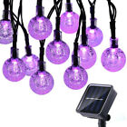 30 LED Fairy Starry String Lights Solar Outdoor Garden Wedding Lawn Party Decor