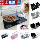 Non-slip Double Pet Bowls with Raised Stand Dog Cat Food Water Feeding Station *
