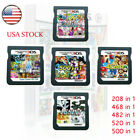 208/482/468/500/520 In1 Games Cartridge Cards For DS NDS 2DS 3DS NDSI NDSL US