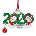 Quarantine Family 2020 Christmas Hanging Ornament Xmas Gifts Masks Toilet Paper