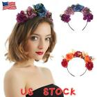 Rose Crown Headband Garland Halloween Skull Spider Party Costume Hair Hoop New